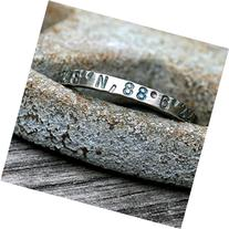 Personalized Sterling Silver Ring - Latitude Longitude