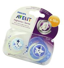 Philips AVENT BPA Free Night Time Pacifier, 6-18 Months, 2