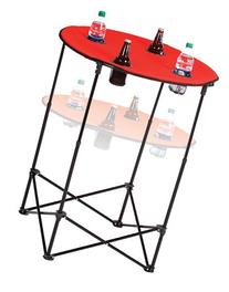 Picnic Plus Portable Round Tailgate Table Extends From 24""