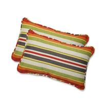 Pillow Perfect Outdoor Roxen Stripe Citrus Rectangular Throw