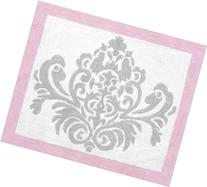 Pink, Gray and White Elizabeth Accent Floor Rug by Sweet
