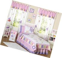 Pink and Purple Butterfly Collection Childrens Bedding 4pc