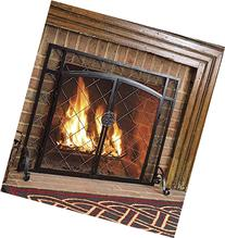 Plow & Hearth Celtic Knot Two-Door Fireplace Hearth Screen