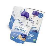 Plum Organics Tots Fruit and Grain Mish Mash, Blueberry,