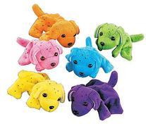 Plush Neon Dogs  - Bulk, Assorted Colors