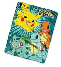 Pokemon Silky Soft Throw Blanket 40 X 50