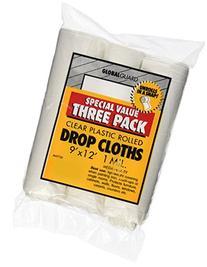 Premier Paint Roller 69730 Plastic Drop Cloth, 9-Feet by 12-