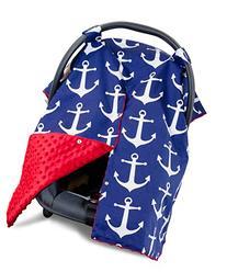 Premium Carseat Canopy Cover / Nursing Cover- Large Nautical