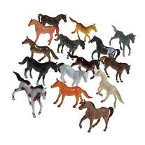 Prextex Plastic Horses Party Favors, 16 Count  Best Gift For
