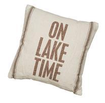 Primitives by Kathy Lake Time 3-Stripes Pillow, 15-Inch by
