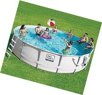 """ProSeries 14' X 42"""" Metal Frame Swimming Pool with Deluxe"""