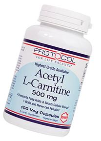 Protocol For Life Balance - Acetyl-L-Carnitine 500 mg -