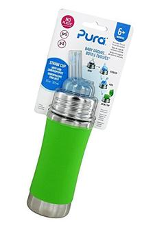 Pura Stainless Steel Bottle With Silicone Straw & Sleeve,