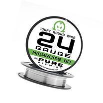 Pure Atomist Nichrome 80 24 Gauge AWG Round Wire Roll 0.51mm
