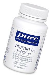 Pure Encapsulations - Vitamin D3 10,000 IU - Hypoallergenic