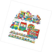Puzzle Doubles Giant ABC & 123 Train Floor Puzzles; no. LJ-