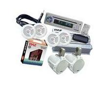 Pyle - Complete Marine Water Proof 6 Speaker CD/USB/Mp3/
