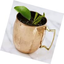 RV Hammered Copper Moscow Mule Mug with Brass Handle, 18oz,