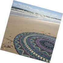 RawyalCrafts- Indian Elephant Mandala Round Roundie Beach