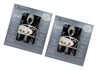 160 Pieces Reflections Heavyweight Plastic Silverware -