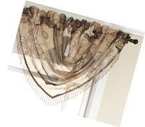 Renaissance Home Fashion Jasmine Tile Print Sheer Waterfall