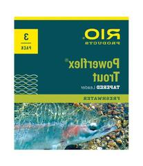 Rio: Powerflex Trout Leaders, 3 Pk, 7.5ft 4X