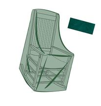 Rocking Chair Outdoor Furniture Cover, In Green 26-3/4''L x