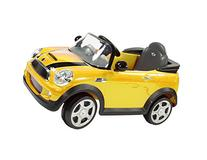 Rollplay 6V Mini Cooper Child's Battery Ride-On, Yellow
