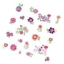 RoomMates RMK1649SCS Love, Joy, Peace Peel & Stick Wall
