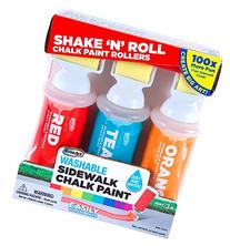 RoseArt Sidewalk Chalk Paint Shake N Roll Painters 3ct