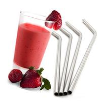 Royal Living Stainless Steel Drinking Straws, Bent, Free
