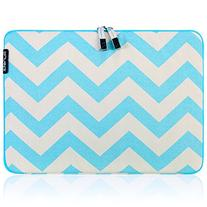 Runetz - 13-inch Chevron Teal/Aqua Soft Sleeve Case for