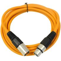 SEISMIC AUDIO - SAXLX-10 - 10' Orange XLR Male to XLR Female