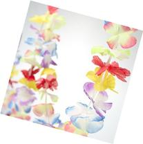 SET OF 3 - Bright Jumbo Flower LUAU PARTY Lei Garlands  {
