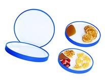 STAY-N-EAT One-Piece Suction Plate, 2 Sided, Sloped &