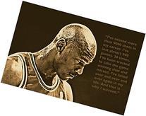 SUCCESS QUOTE photo poster MICHAEL JORDAN basketball great