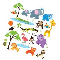 Safari Adventure Decorative Peel & Stick Wall Art Sticker