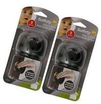 Safety 1st Grip n' Twist Door Knob Decor Covers - Black - 6