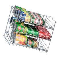 Saganizer Chrome Stackable Can Organizer, Can Rack Holds up
