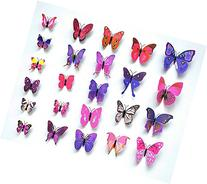 Sangu 3D Colorful Butterfly Removable Mural Wall Stickers