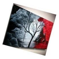 Santin Art - Hand-painted Artwork the Cloud Tree High Q.