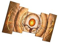 Santin Art - Modern Canvas Art Orange Trees Dancing Home