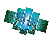 Santin Art - Wood Framed on the Back Wall Art Blue Tree