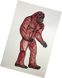 Sasquatch Bigfoot Articulated Paper Doll