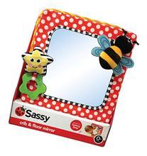 Sassy Developmental Crib and Floor Mirror, Red