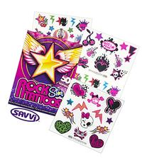 Savvi Rocker Rock Star Tattoos for Girls ~ 50 Temporary