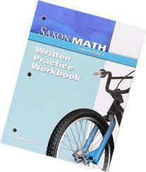 Saxon Math Intermediate 3: Written Practice Workbook 1st