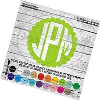Scalloped Monogram Vinyl Die Cut Decal Sticker for Car