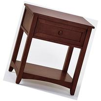 School House One Drawer Wooden Nightstand