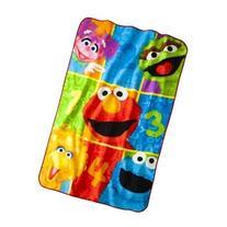 "Sesame Street Super Plush Twin Size Blanket; 62"" x 90"